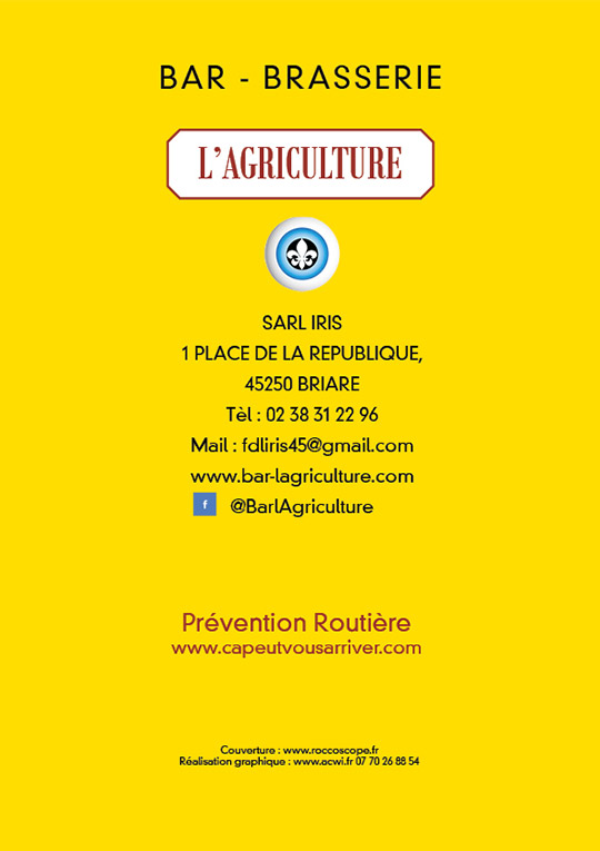 Carte Restauration L'Agriculture Briare